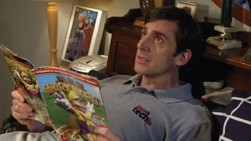 And there's nothing wrong with being into games or comi... is he reading a Prima Strategy Guide for fun??