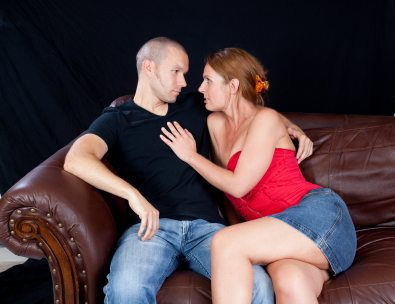 There are seven working ways of initiating sex from this position. Three of them produce orgasm with minimal contact. Three of them involve anal. The other --- gets freaky.