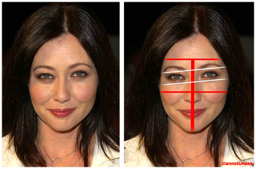 Such as Shannen Doherty's eye. Hey 90210 junkies, ever notice how Brenda kept her hair over one eye and her head tilted to the side?
