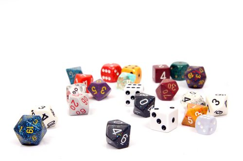 """'Many-sided?' You're talking about dice, aren't you? Damn it, I just got those trained just how I wanted them..."""