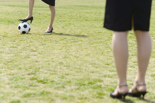 """""""How is this unfair? We're both wearing heels..."""""""