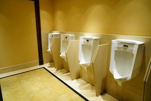 Which is believable right up until you start examining urinal etiquette.