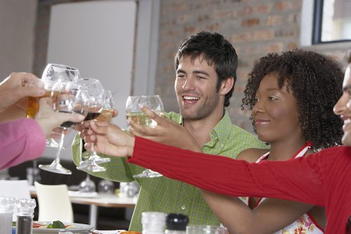 Networking and drinks go hand in hand, by the by...