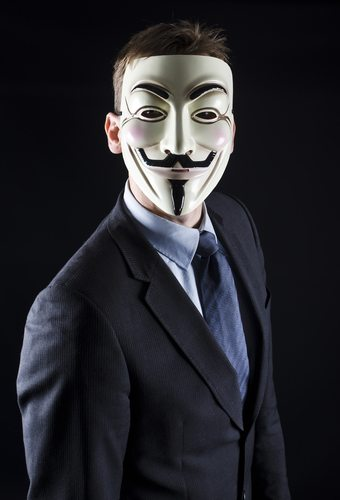 The V mask is a great example of this: subsuming our own identities into the collective group. Twin Design / Shutterstock.com