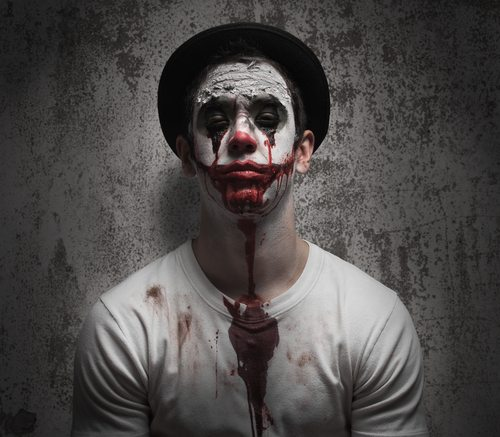 Also: clowns. Clowns are inherently creepy, according to science.