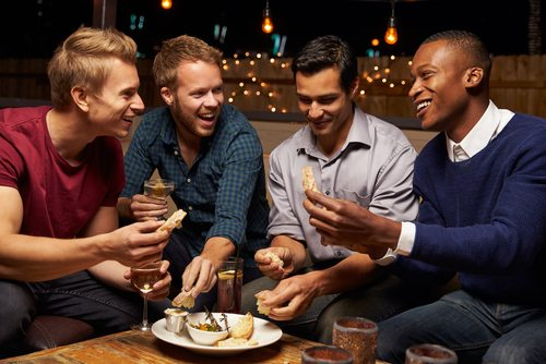 Sometimes a night out with the guys is literally what the doctor ordered.