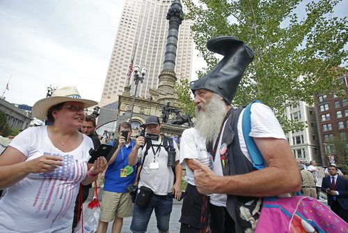 Vermin Supreme's fans, however, are blessedly chill. (credit: a katz / Shutterstock.com)