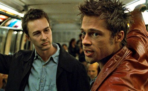 Brad Pitt and Ed Norton in Fight Club