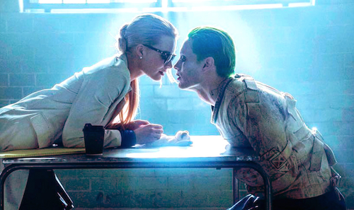 Dr. Harleen Quinzell flirting with the Joker in Arkham Asylum.