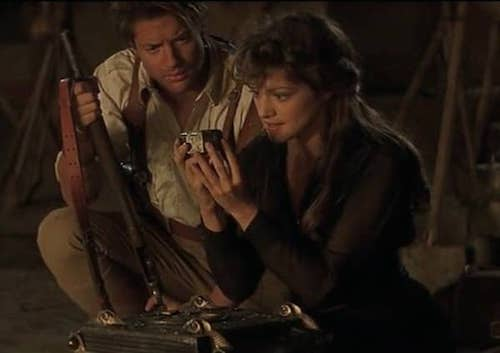 Brendan Fraser and Rachel Weisz in The Mummy