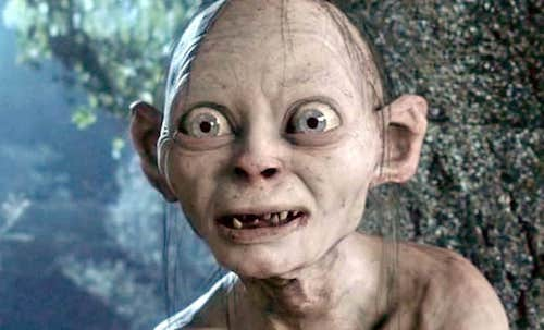 Image of Gollum with a perplexed expression on his face