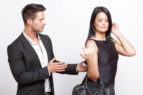 Man trying to flirt with an attractive woman