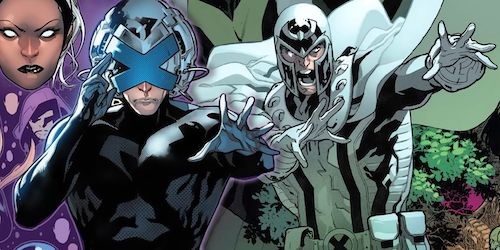 Splash page of Charles Xavier and Magneto from the comic House of X