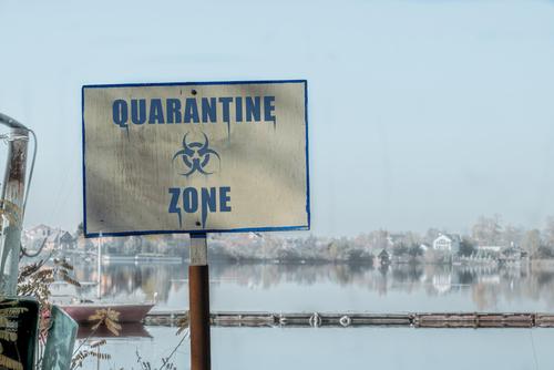 Quarantine zone sign