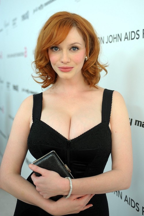 A photo of Christina Hendricks at a charity event