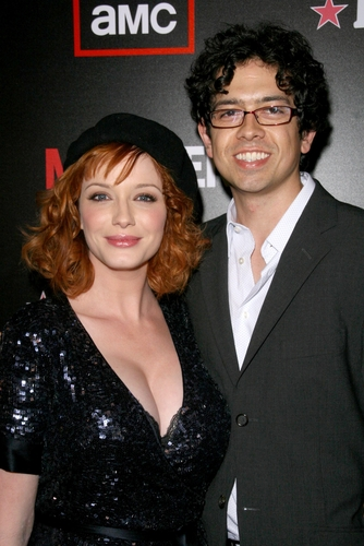 Christina Hendricks and Geoffrey Arend at the Wrap Party for Season 2 of 'Mad Men'.